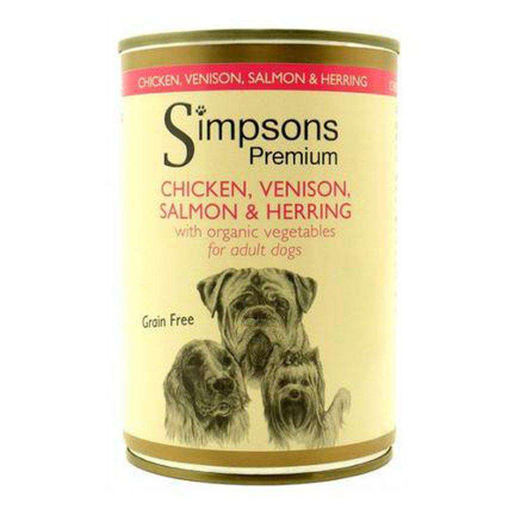 Simpsons Organic Chicken Venison Salmon & Herring With Vegetables 400g-Dog Wet Food-Simpsons-Dofos Pet Centre