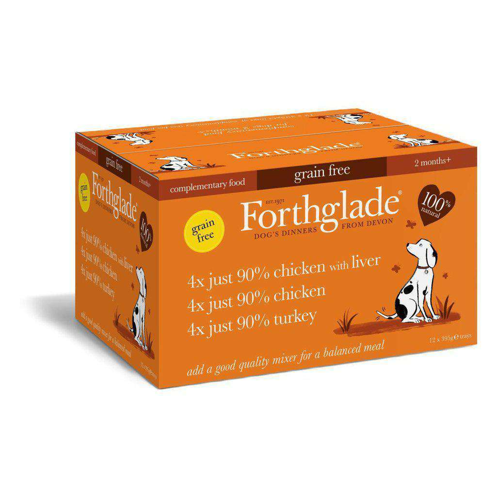 Forthglade Just 90% Poultry Variety (Turkey, Chicken, Liver) Wet dog food 12 x 395g-Dog Wet Food-Forthglade-Dofos Pet Centre