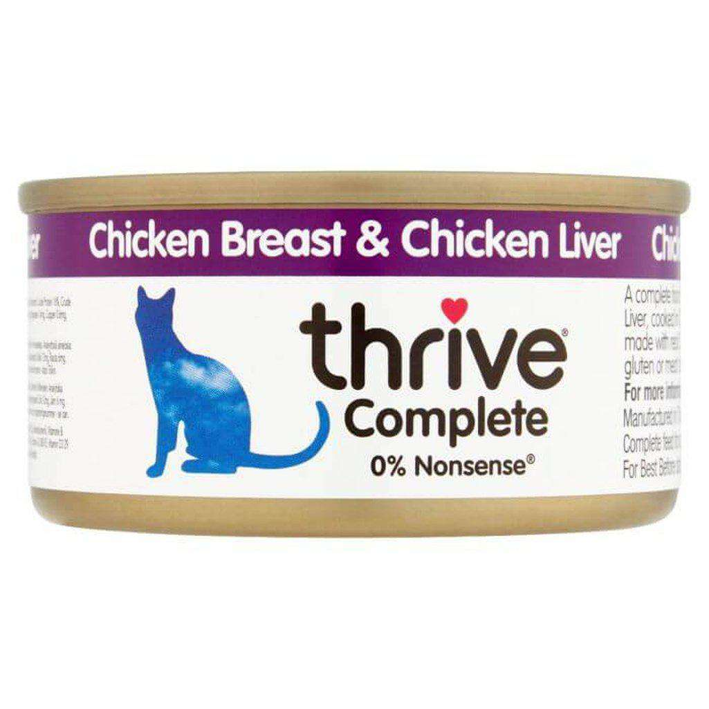 Thrive Complete Chicken With Chicken Liver Wet Cat Food 75g-Cat Wet Food-Thrive-Dofos Pet Centre