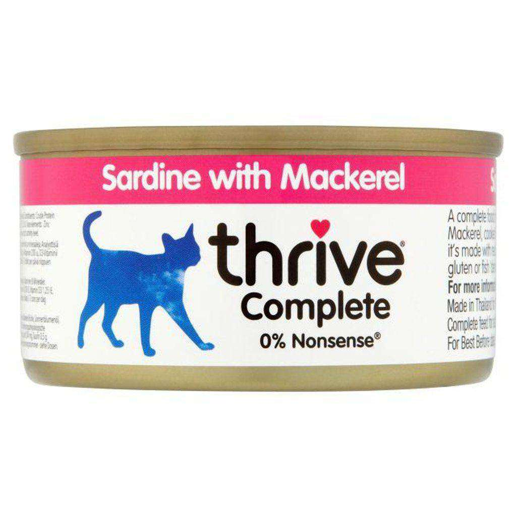 Thrive Complete Sardine With Mackerel Wet Cat Food 75g-Cat Wet Food-Thrive-Dofos Pet Centre