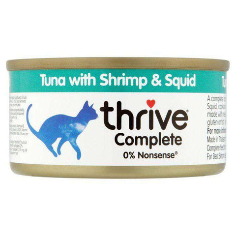 Thrive Complete Tuna with Shrimp And Squid Wet Cat Food 75g