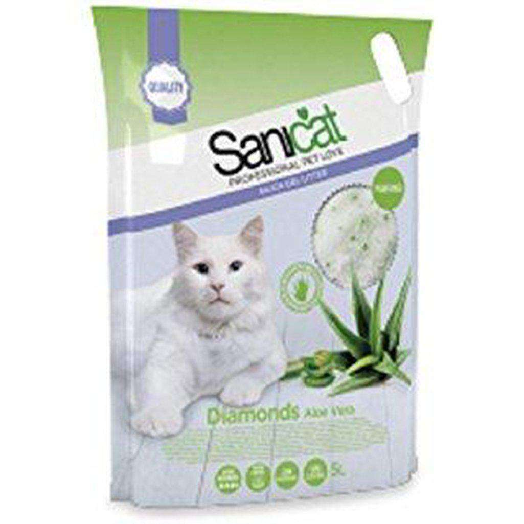 Sanicat Diamonds Aloe Vera 5L-Cat Litter-Sanicat-Dofos Pet Centre