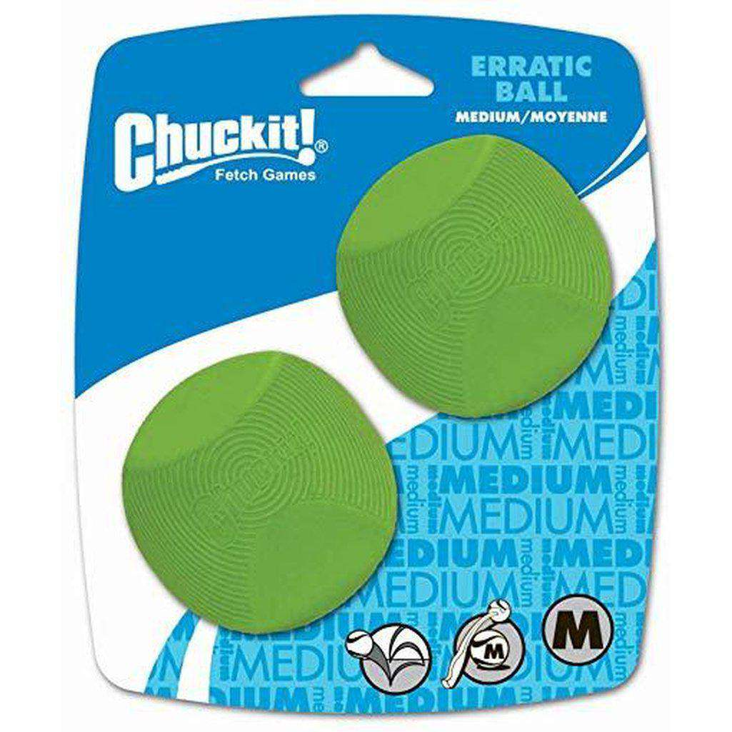 Chuckit Erratic Ball Dog Toy-Dog Toys-Chuckit-Small 2 Pack-Dofos Pet Centre