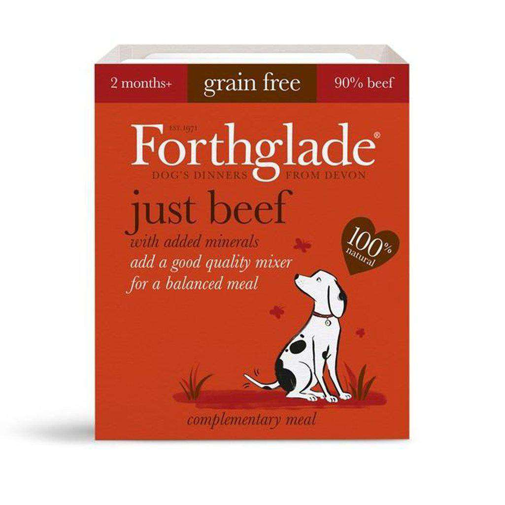 Forthglade Just Beef Wet Dog Food 395g-Dog Wet Food-Forthglade-Dofos Pet Centre