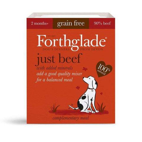 Forthglade Just Beef Wet Dog Food 395g
