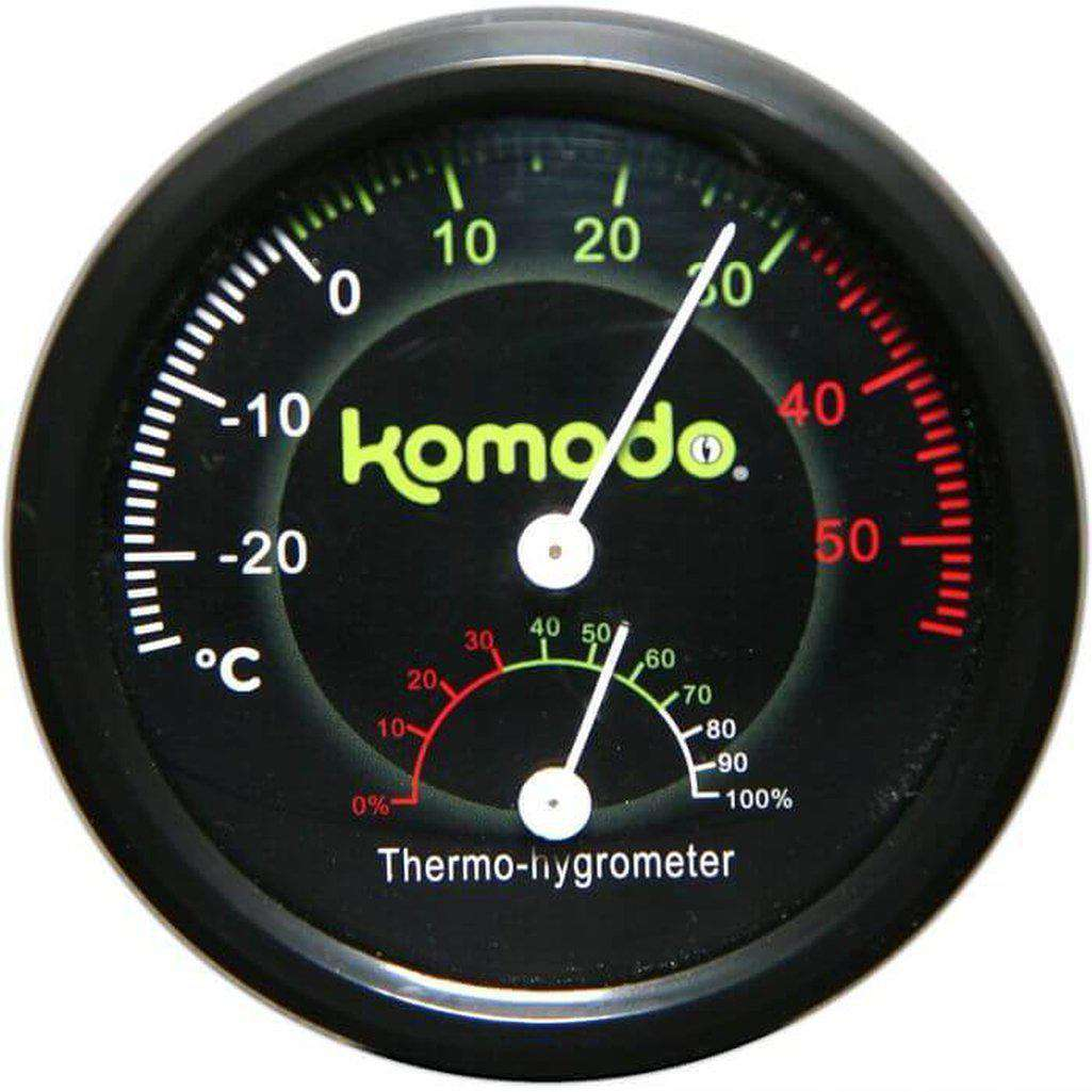 Komodo Combined Thermometer & Hygrometer Analog-Reptile Accessories-Dofos Pet Centre-Dofos Pet Centre