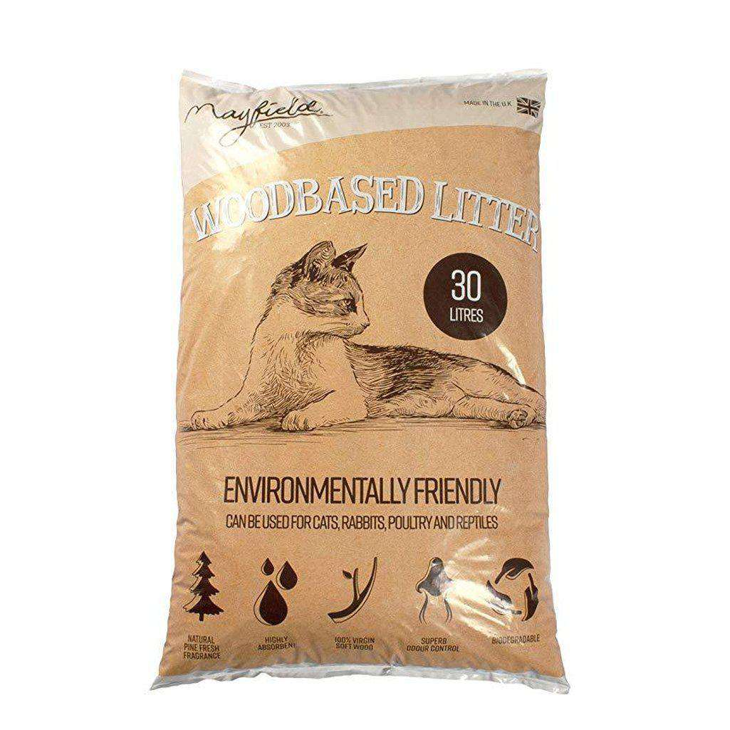 Mayfield Woodbased Cat Litter 30L