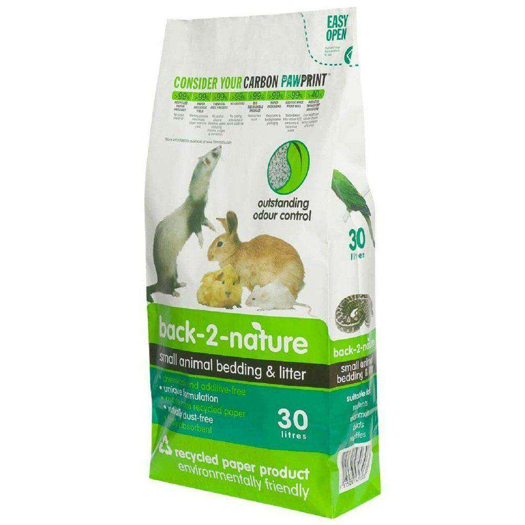 Back 2 Nature Small Animal Paper Bedding and Litter-Small Animal Bedding-Back 2 Nature-10 Litre-Dofos Pet Centre