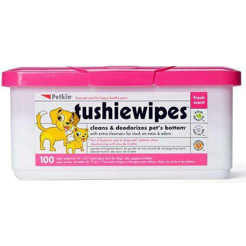Petkin Tushie Dog & Cat Wipes Pack of 100