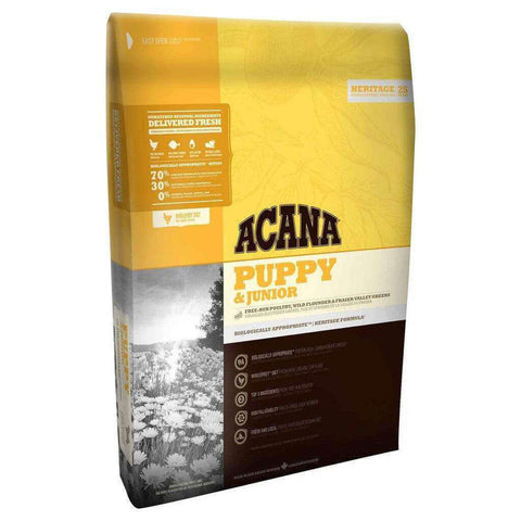 Acana Heritage Puppy and Junior Grain Free Dry Dog Food