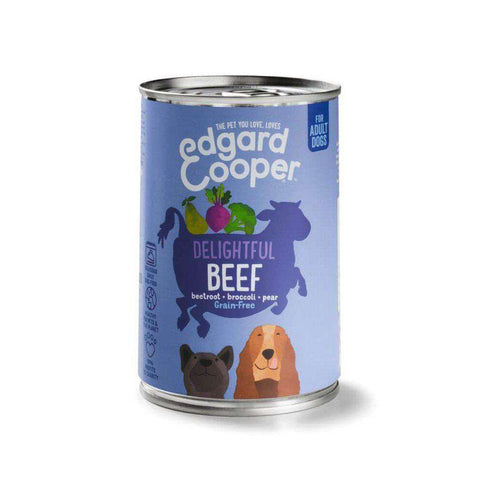 Edgard & Cooper Adult Grain Free Wet Dog Food With Beef 400g