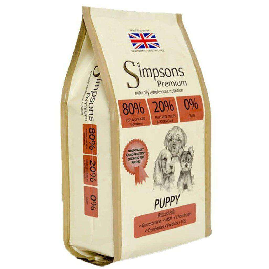 Simpsons 80/20 Puppy Fish & Chicken Dry Dog Food  12kg