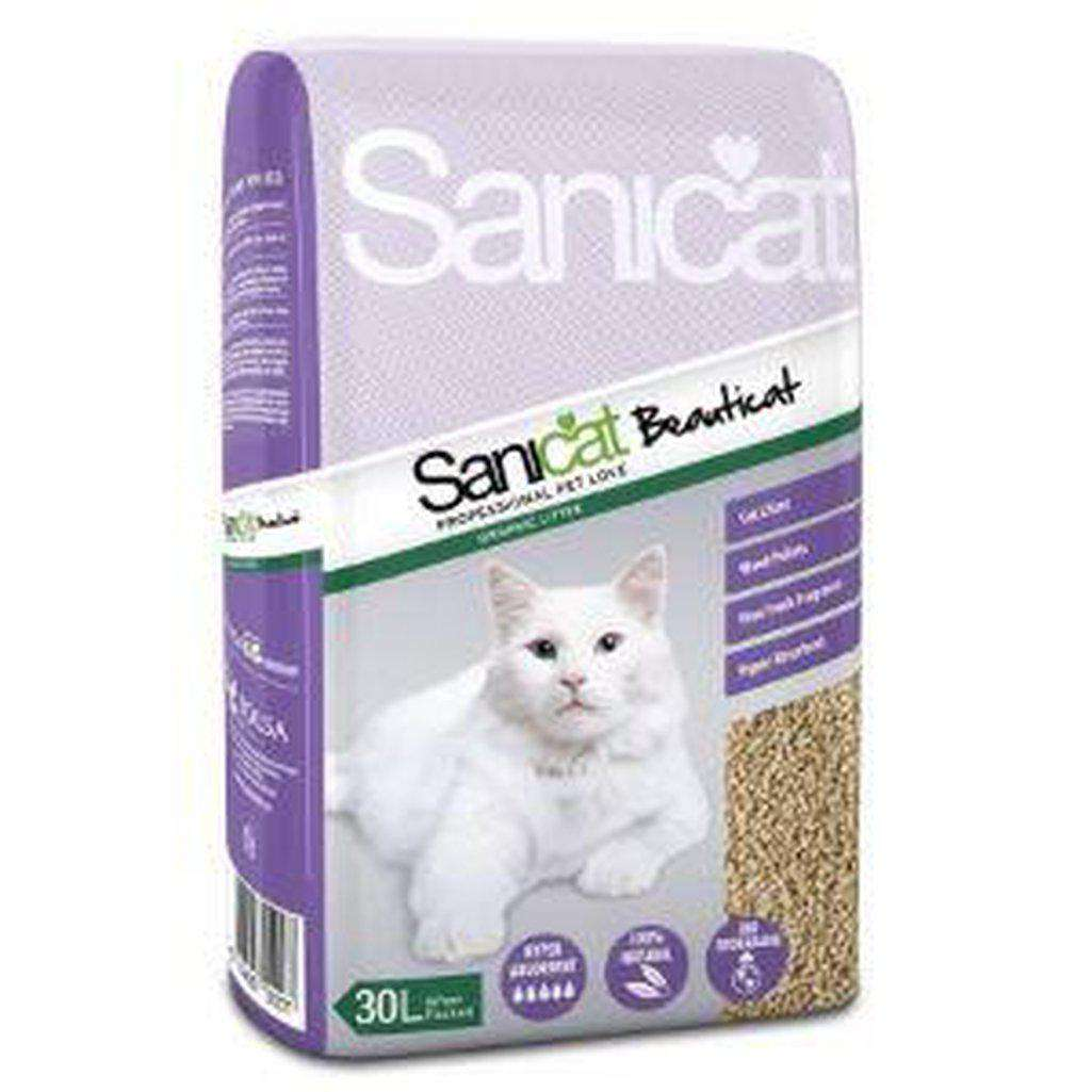 Sanicat Beauticat Wood Cat Litter 30L-Cat Litter-Sanicat-Dofos Pet Centre