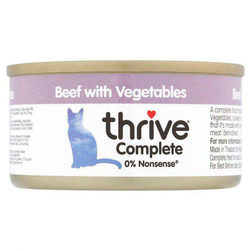 Thrive Complete Beef With Vegetable Wet Cat Food 75g-Cat Wet Food-Thrive-Dofos Pet Centre