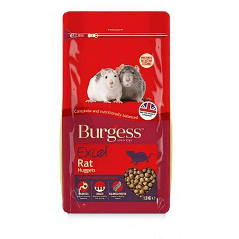 Burgess Excel Rat Nuggets Rat Food 1.5kg