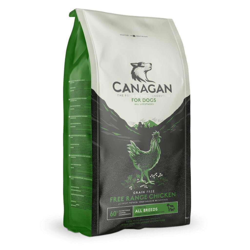 Canagan Free Run Chicken Grain Free Dog Food-Dog Dry Food-Canagan-2kg-Dofos Pet Centre