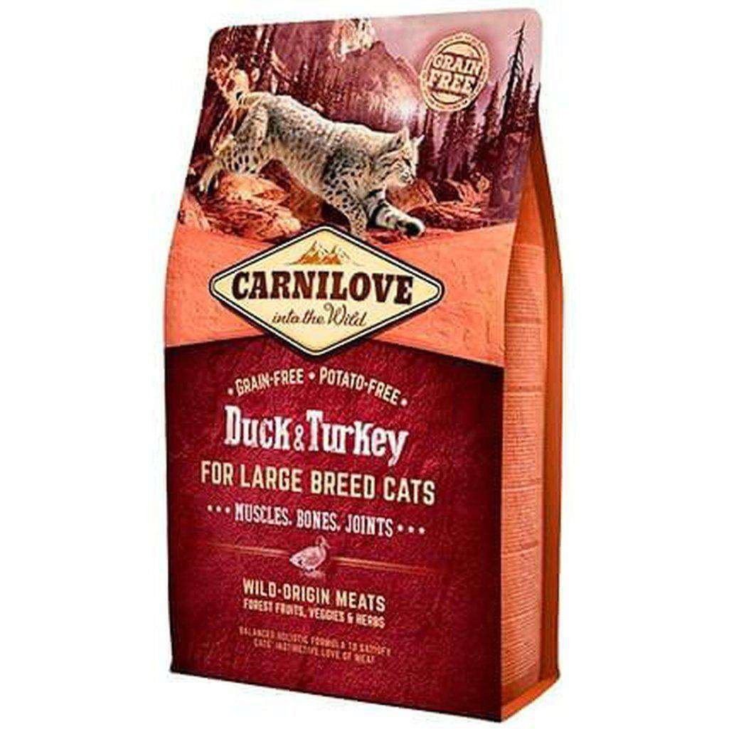 Carnilove Duck & Turkey (Large Breed Cat) Grain Free Dry Cat Food