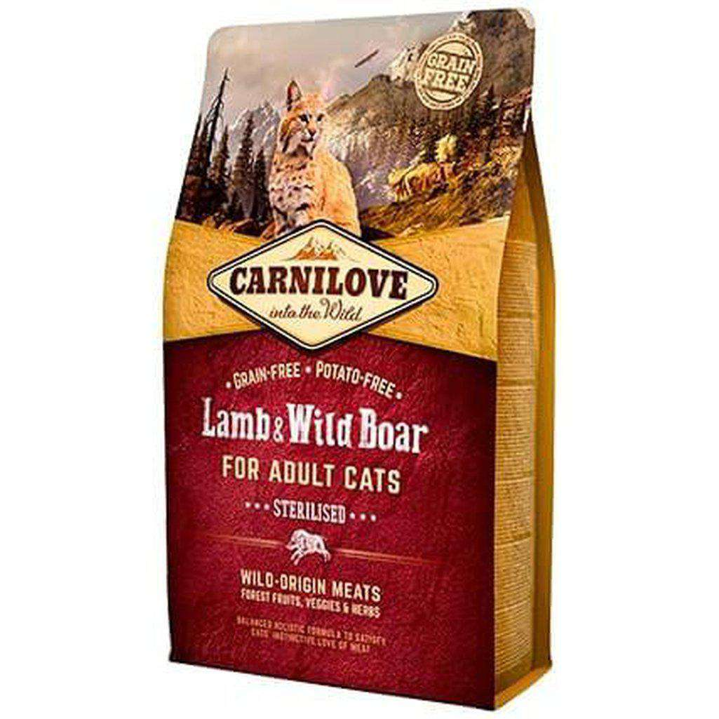 Carnilove Lamb & Wild Boar Grain Free Dry Cat Food-Cat Dry Food-Carnilove-2kg-Dofos Pet Centre