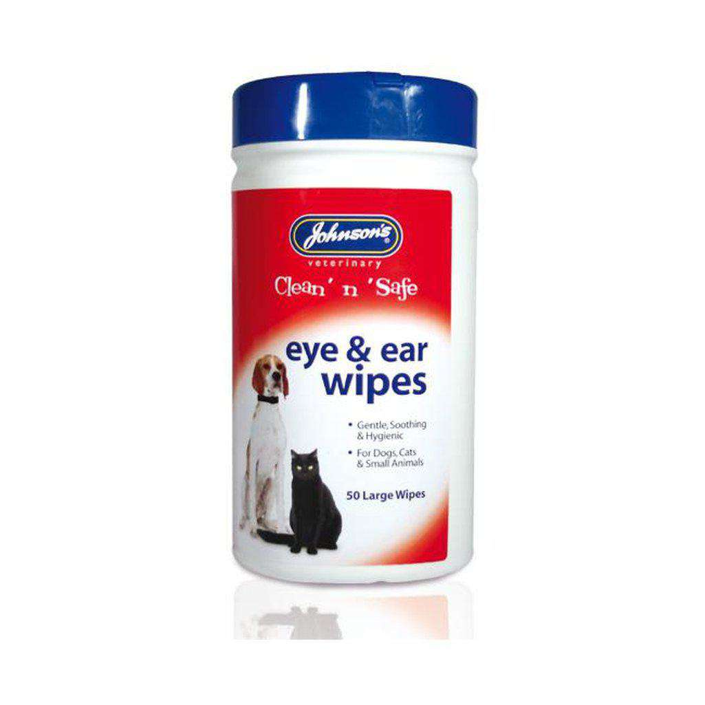 Clean 'n' Safe Eye & Ear Wipes-Dog Grooming-Johnsons-Dofos Pet Centre