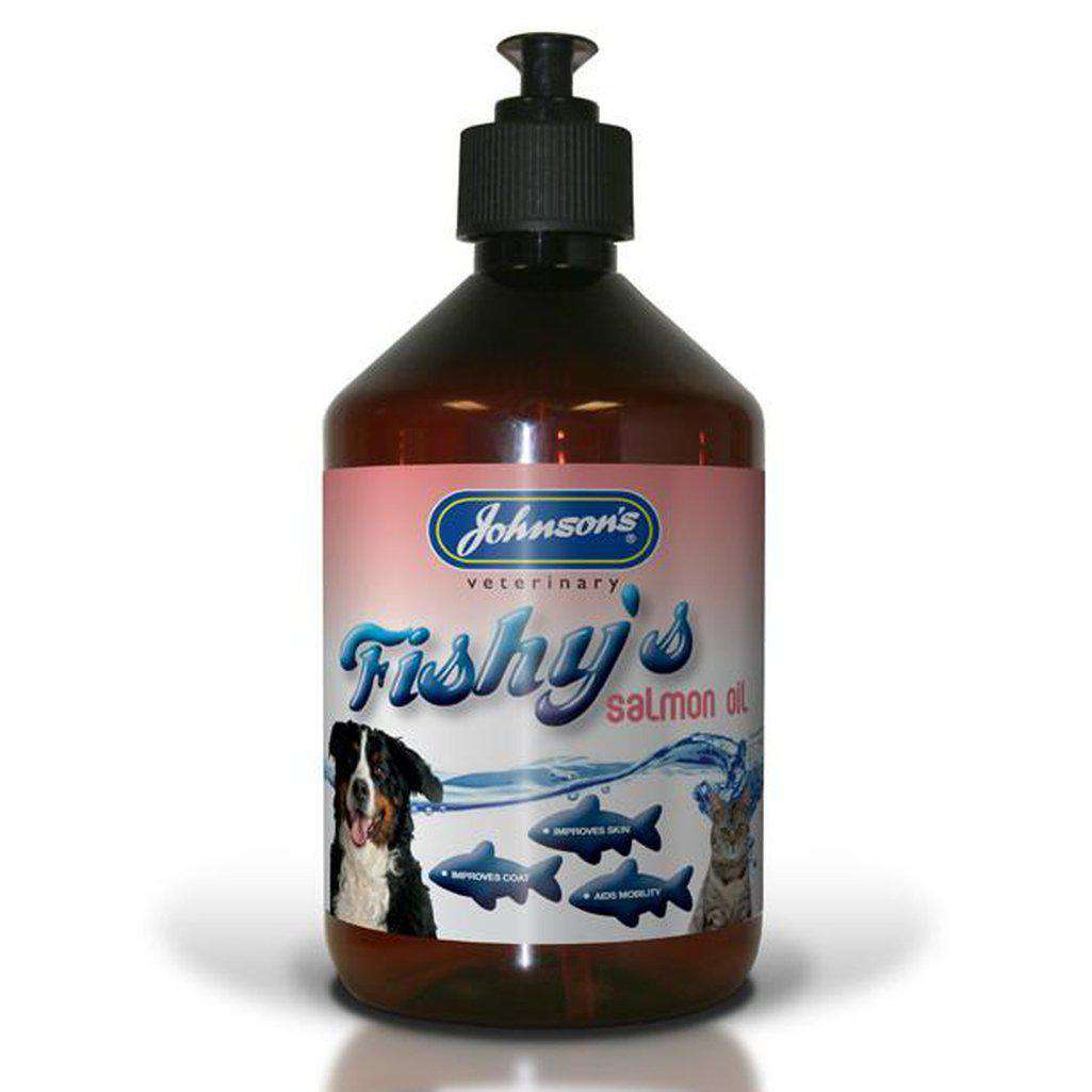 Johnsons Atlantic Salmon Oil 500ml-Health & Treatments-Johnsons-Dofos Pet Centre