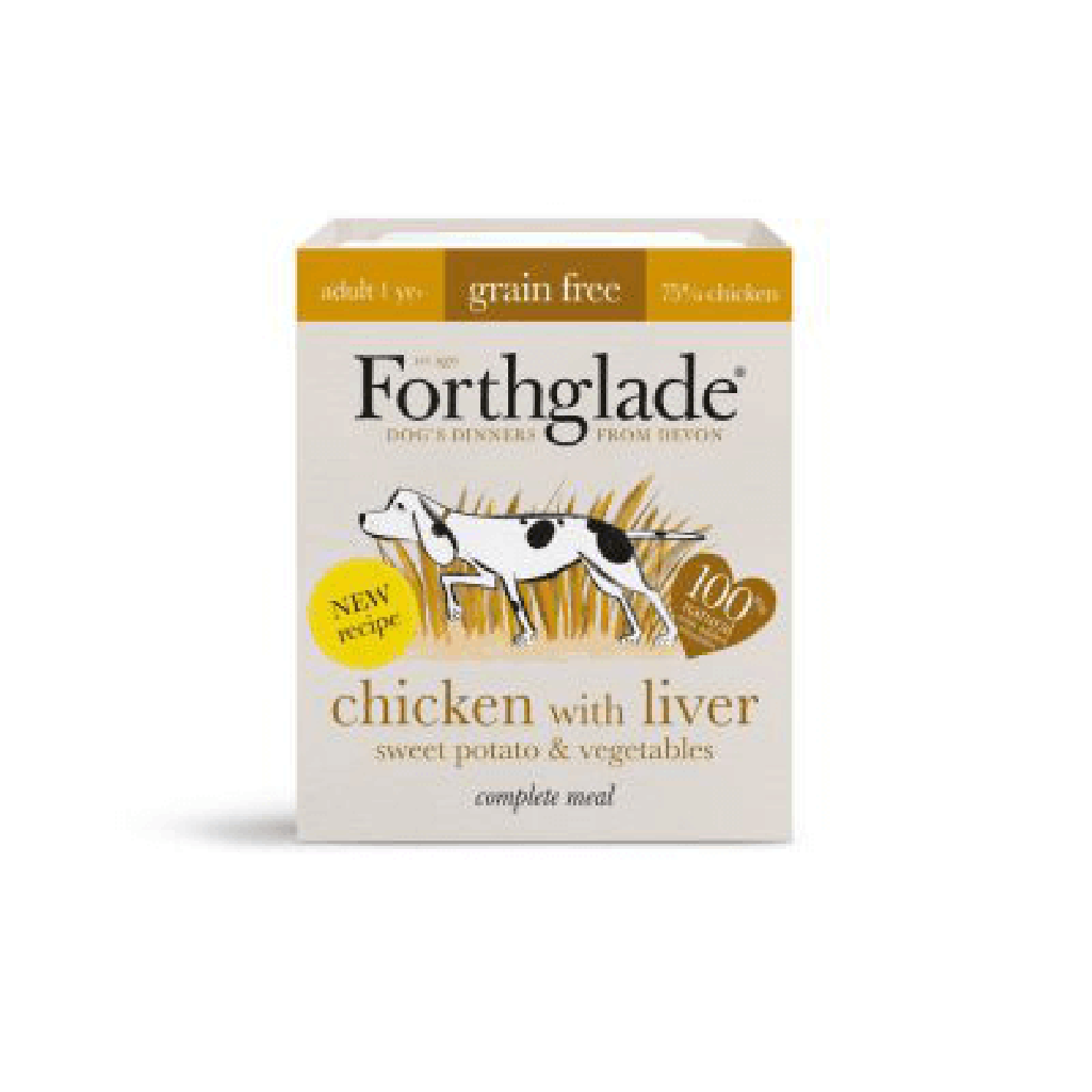 Forthglade chicken & liver With Sweet Potato Complete Wet Dog Food 395g-Dog Wet Food-Forthglade-Dofos Pet Centre