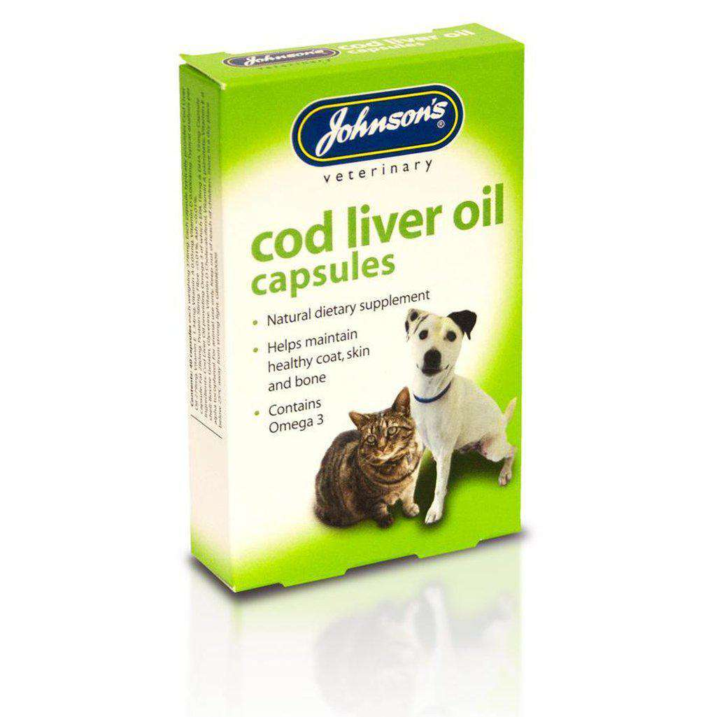 Johnsons Cod Liver Oil - 40 Capsules-Health & Treatments-Johnsons-Dofos Pet Centre