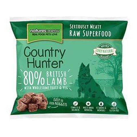 Natures Menu Country Hunter Superfood Nuggets British Lamb Raw Dog Food