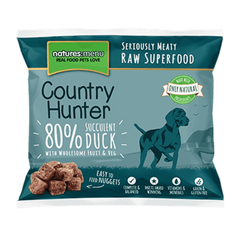 Natures Menu Country Hunter Superfood Nuggets Succulent Duck Raw Dog Food