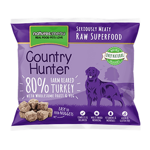 Natures Menu Country Hunter Superfood Nuggets Farm Reared Turkey Raw Dog Food