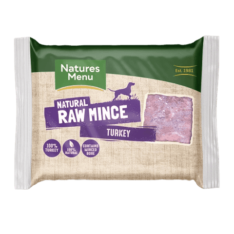 Natures Menu Turkey Portions Raw Dog Food 400g