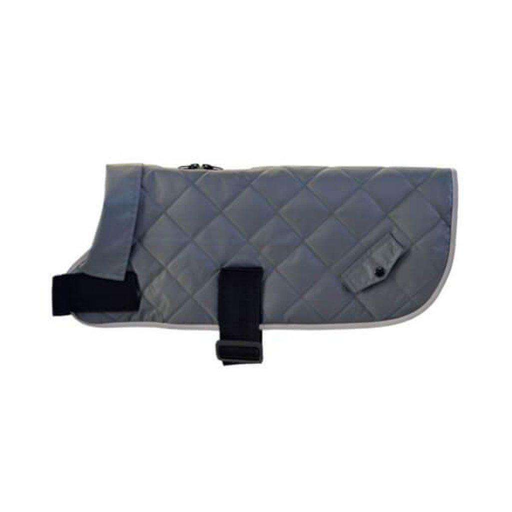 Happy Pet Quilted Classic Dog Coat Grey-Dog Coats-Happy pet-Xs-Dofos Pet Centre