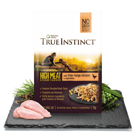 Natures Menu True Instinct Free Range Chicken Pouch Wet Cat Food 70g