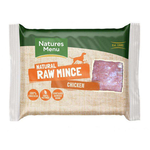 Natures Menu Chicken Mince Portions Raw Dog Food 400g
