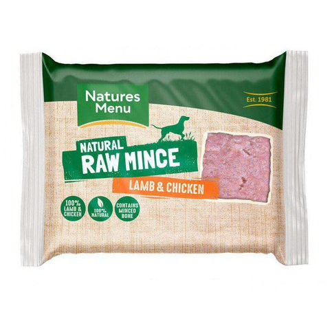 Natures Menu Lamb & Chicken Portions Raw Dog Food 400g
