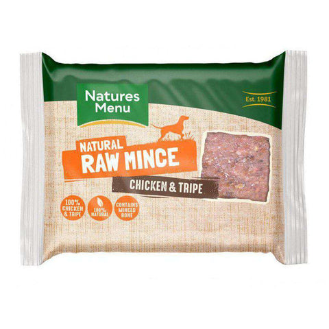 Natures Menu Chicken & Tripe Portions Raw Dog Food 400g