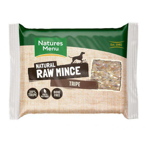 Natures Menu Tripe Portions Raw Dog Food 400g