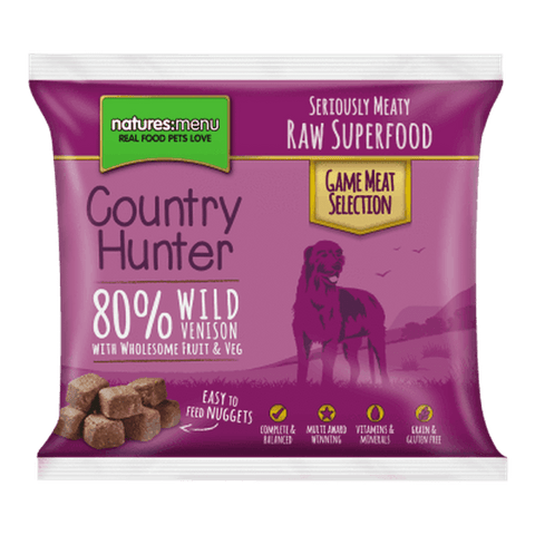 Natures Menu Country Hunter Superfood Nuggets Wild Venison Raw Dog Food