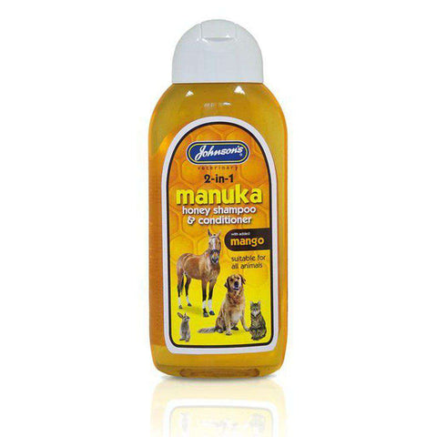 Johnson's Manuka Honey 2 In 1 Dog Shampoo 200ml