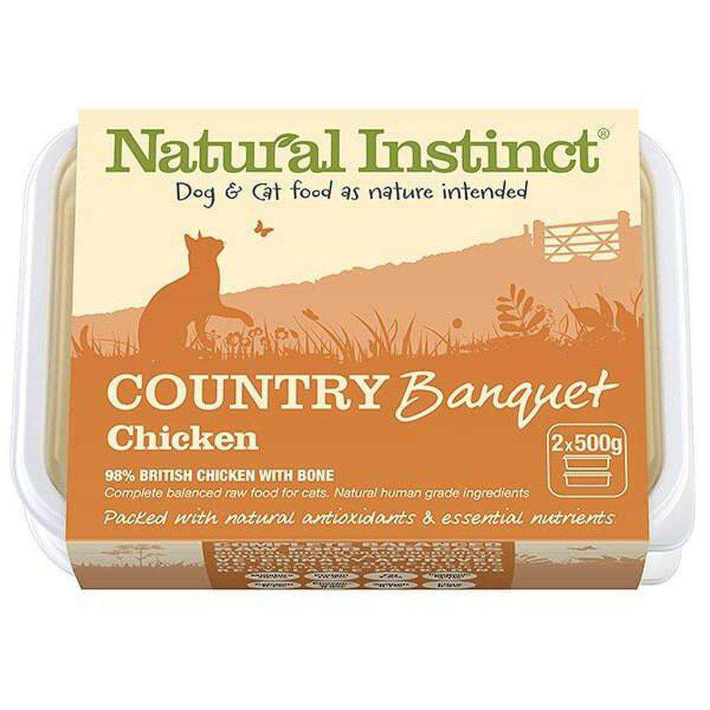 Natural Instinct Country Banquet Chicken Cat Raw Food-Raw Food-Natural Instinct-2x500g-Dofos Pet Centre