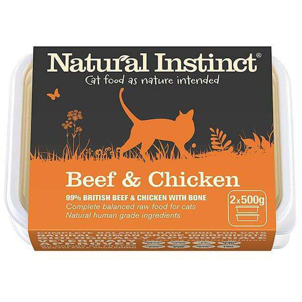 Natural Instinct Cat Beef & Chicken Cat Raw Food-Raw Food-Natural Instinct-2x500g-Dofos Pet Centre