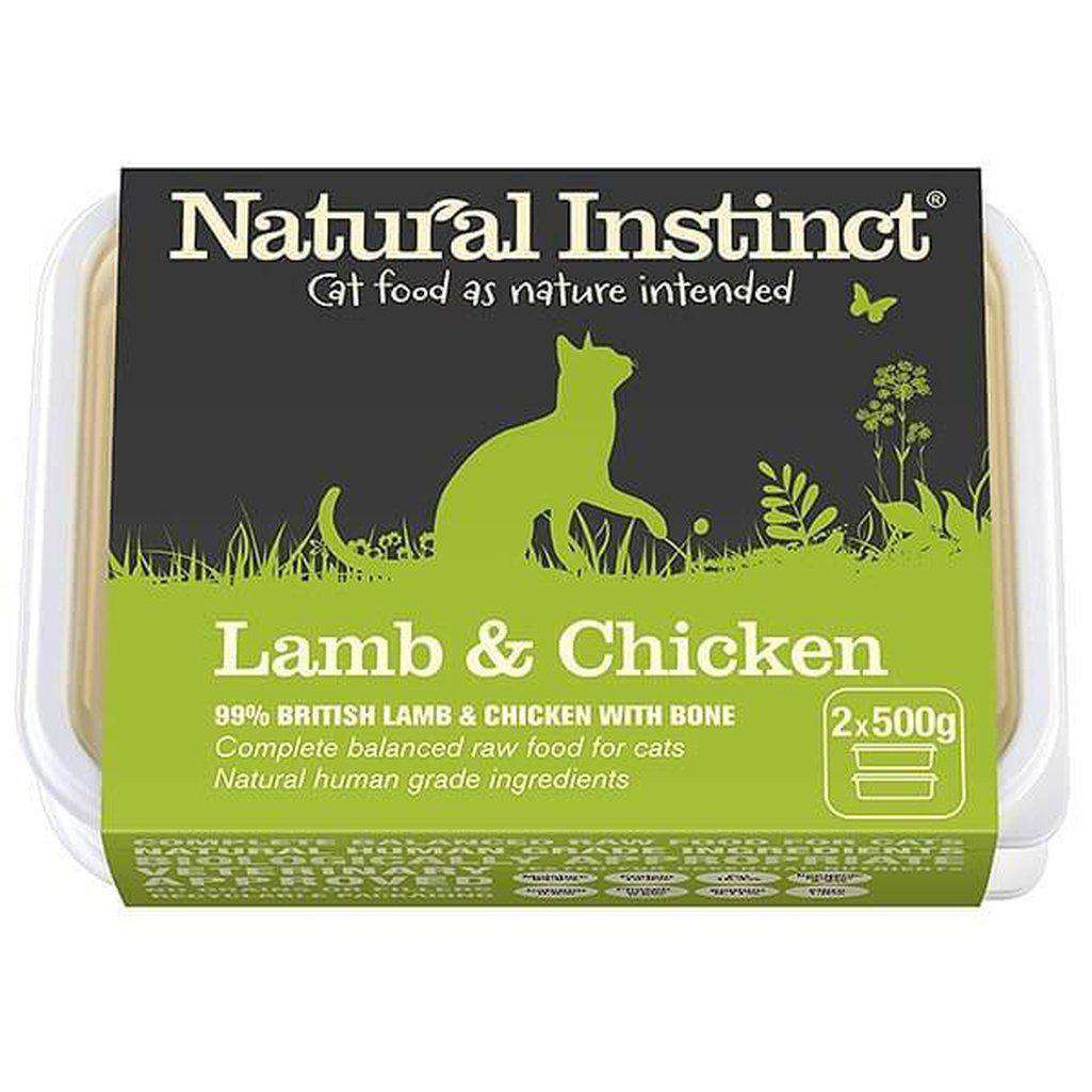 Natural Instinct Cat Lamb & Chicken Cat Raw Food-Raw Food-Natural Instinct-2x500g-Dofos Pet Centre