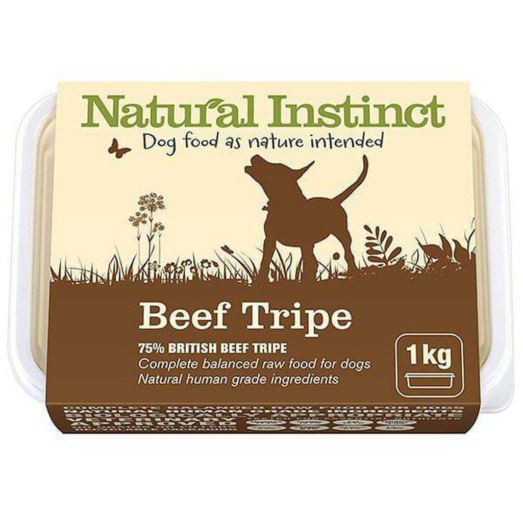Natural Instinct Natural Beef Tripe Raw Dog Food-Raw Food-Natural Instinct-1kg-Dofos Pet Centre