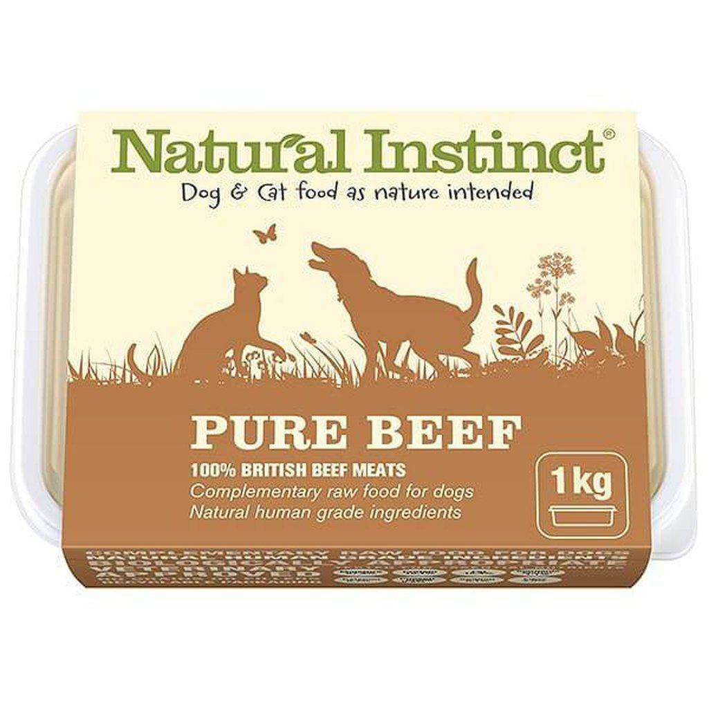 Natural Instinct Pure Beef Raw Dog/Cat Food-Raw Food-Natural Instinct-1kg-Dofos Pet Centre