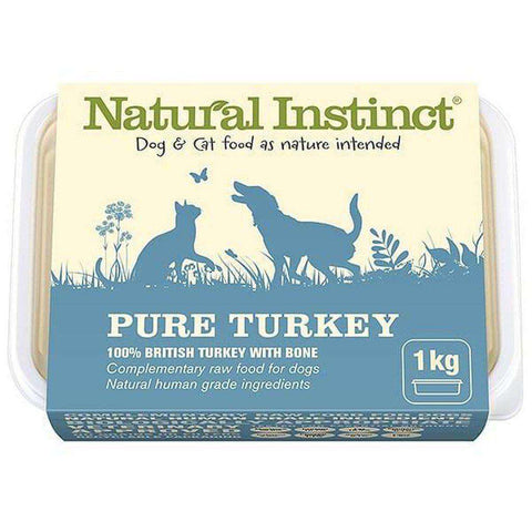 Natural Instinct Pure Turkey Raw Dog/Cat Food