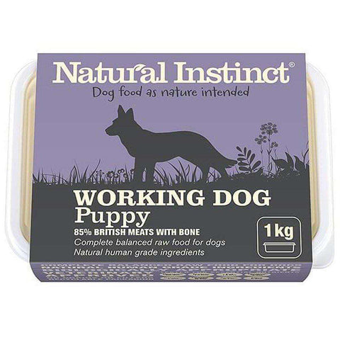 Natural Instinct Working Dog Puppy Raw Dog Food
