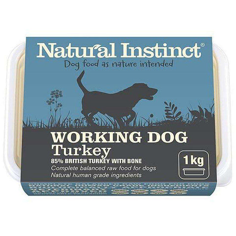 Natural Instinct Working Dog Turkey Raw Dog Food