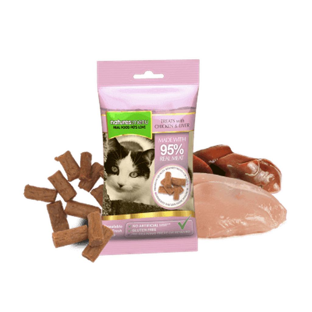 Natures Menu Real Meaty Chicken & Liver 60g Cat Treats-Cat Treats-Natures Menu-Dofos Pet Centre