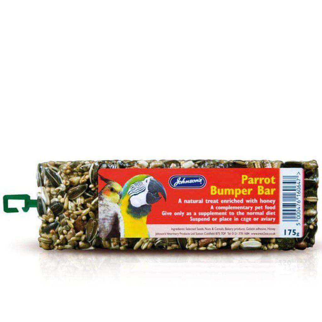 Johnson's Parrot Bumper Bars 175g-Bird Treats-Johnson's-Dofos Pet Centre