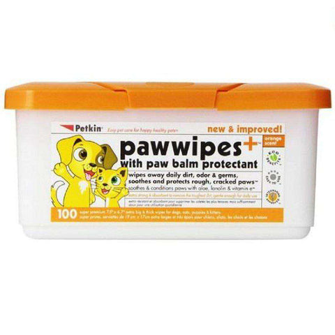 Petkin Paw Dog & Cat Wipes Pack of 100