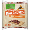 Natures Menu Dog Raw Frozen Whole Meat Chunks Poultry Hearts 1kg